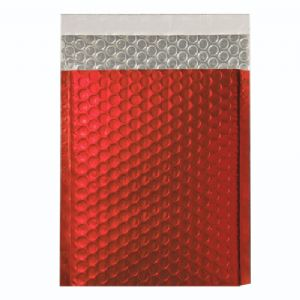 Metallic Red Foil Bubble Bags (Range of Sizes and Quantities)